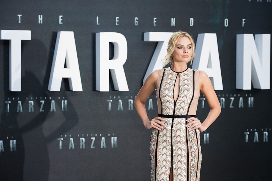 """LONDON, ENGLAND - JULY 05:  Margot Robbie attends the European premiere of """"The Legend Of Tarzan"""" at Odeon Leicester Square on July 5, 2016 in London, England.  (Photo by Jeff Spicer/Getty Images)"""