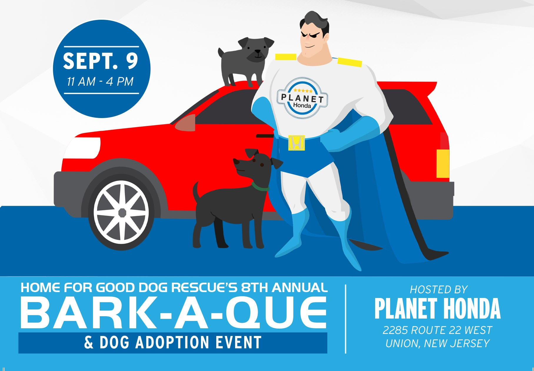 "eighth annual ""bark-a-que"" & dog adoption event"