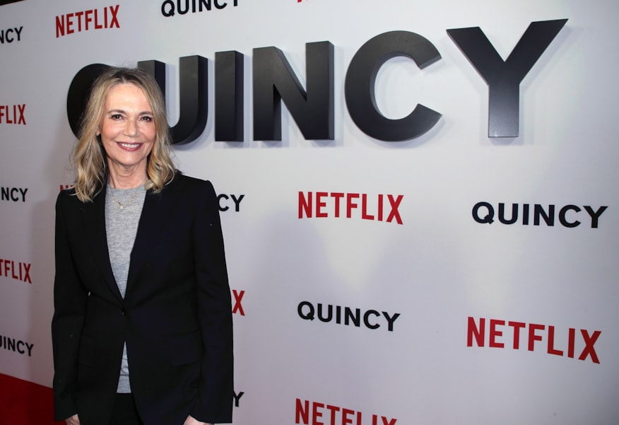 """LOS ANGELES, CA - SEPTEMBER 14:  Peggy Lipton attends the premiere of Netflix's """"Quincy"""" at Linwood Dunn Theater on September 14, 2018 in Los Angeles, California.  (Photo by David Livingston/Getty Images)"""